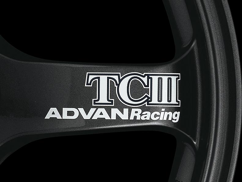 ADVAN Racing TCIII Spoke Sticker - Colour: White - Quantity: 2 - Wheel: Dark Gun metallic - V0226
