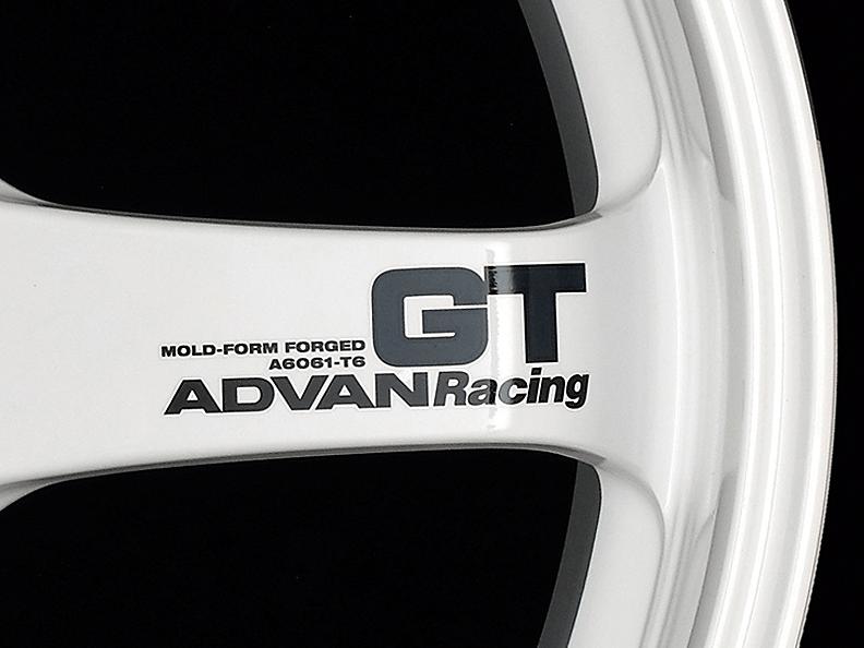 ADVAN RACING GT Spoke Sticker - Colour: Dark Blue - Quantity: 2 - Wheel: Machining & Racing Hyper Black / Racing White - V0617