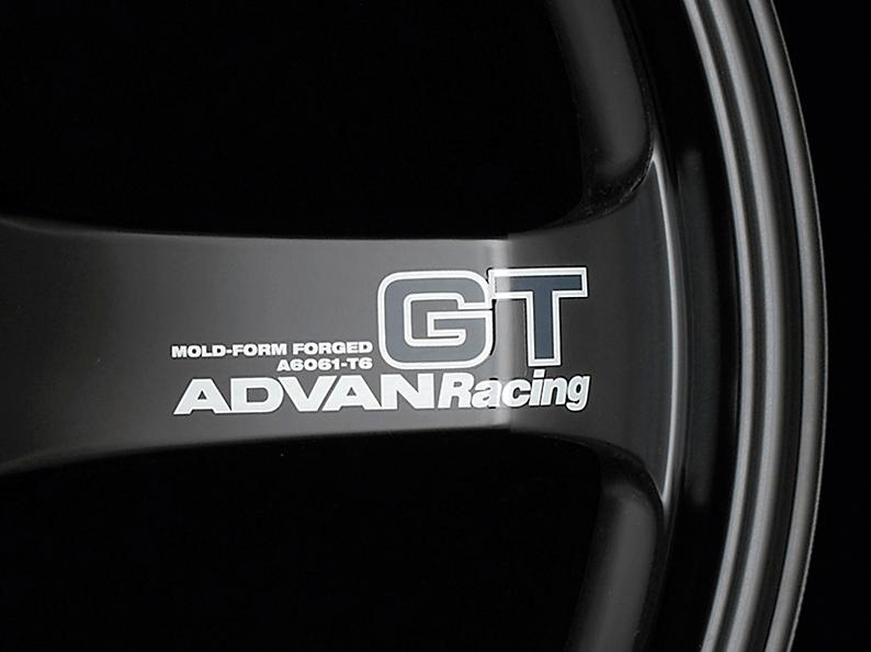 ADVAN RACING GT Spoke Sticker - Colour: White - Quantity: 2 - Wheel: Semi-gloss black - V0618