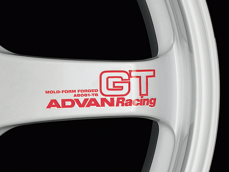 ADVAN RACING GT Spoke Sticker - Colour: Racing Red - Quantity: 2 - Wheel: Racing White - V0619