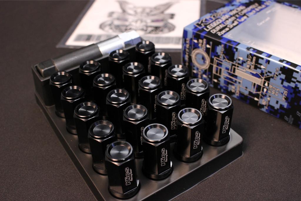 Colour: Black - Thread: M12 x P1.5 - Length: 53mm - Quantity: 20pcs (Nut 16p & Lock 4p) - CL53-11K