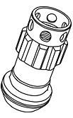 Replacement Lock Nut - Colour: Black - Thread: M12xP1.25 - Taper: Blue - YLI3KU
