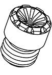 Replacement End Caps (Resin) - Colour: Blue - Thread: M12xP1.5 - ZCIF1U