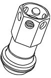 Replacement Nut - Colour: Black - Thread: M12xP1.5 - Taper: Blue - ZRI1KU