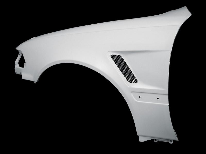 Front Street Fenders (+15mm ea. side) - Construction: FRP - Colour: Unpainted - 02159