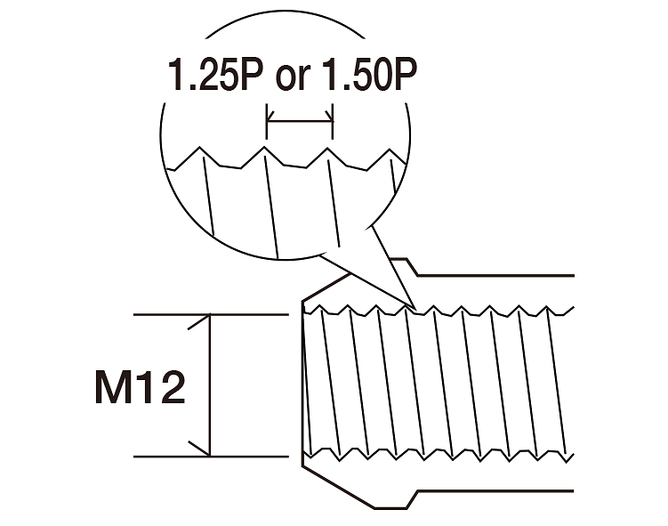 Colour: Black - Thread: M12×1.25P - Length: 28mm - Quantity: 4 - Taper: 60 degrees - V2380