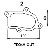 TD04H - With Actuator - Outlet - Metal - 11900121