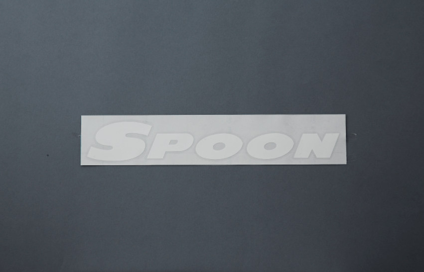 SPOON SPORTS TEAM STICKER DECAL WHITE 800MM GENUINE FROM SPOON JAPAN