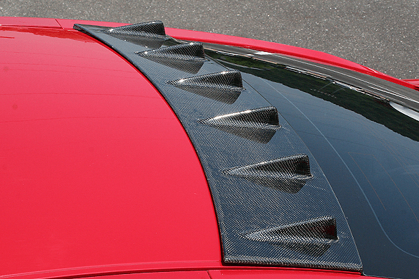 ROOF FIN - Construction: Carbon - Colour: Clear gel buff finish - 000975c
