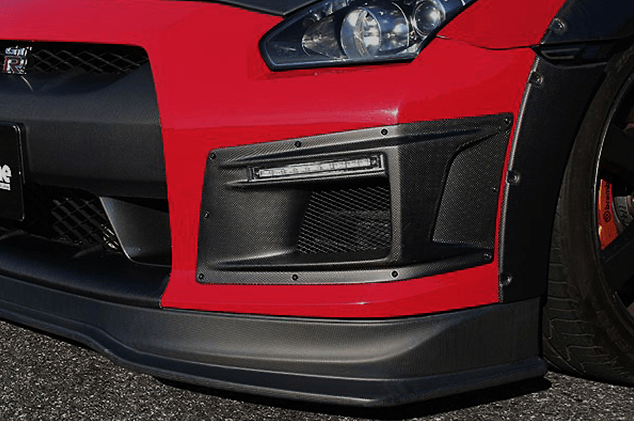 FRONT BUMPER DUCT with LED daytime lights & turn signal - Construction: Carbon - Colour: - - 000979c