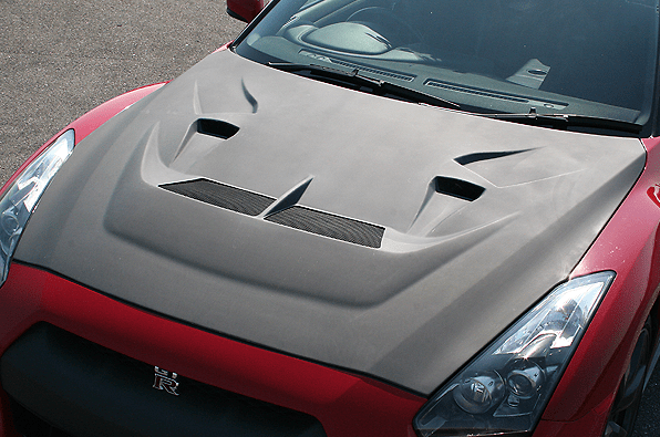 ENGINE HOOD (WITH DUCT) - Construction: Hybrid Carbon - Colour: - - 0098008cc
