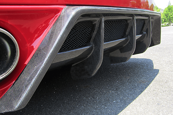 REAR DIFFUSER with BOTTOM LINE - Construction: Carbon - Colour: - - 000275cc