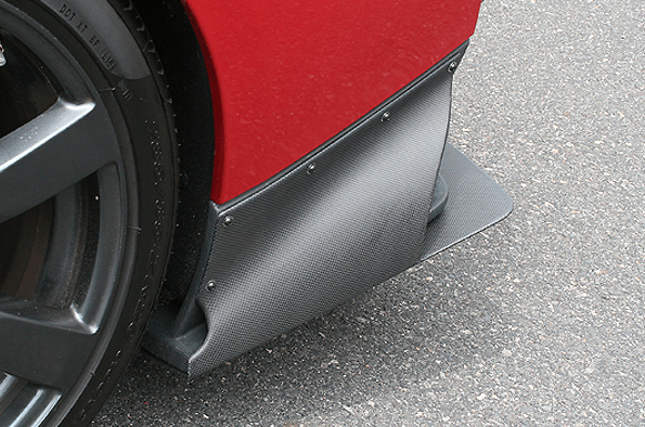 REAR UNDER SIDE COWL - for ChargeSpeed REAR DIFFUSER with BOTTOM LINE - Construction: Carbon - Colou