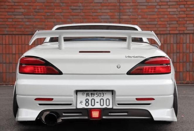 Rear Bumper with Carbon Lower Centre - Construction: FRP/Carbon - Colour: Unpainted - GM-REV-S15-T2-