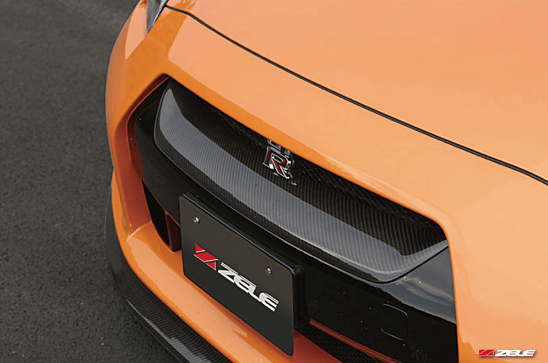 Carbon Front Grill - Construction: Carbon - Colour: - - ZELE-GTR35-CFG