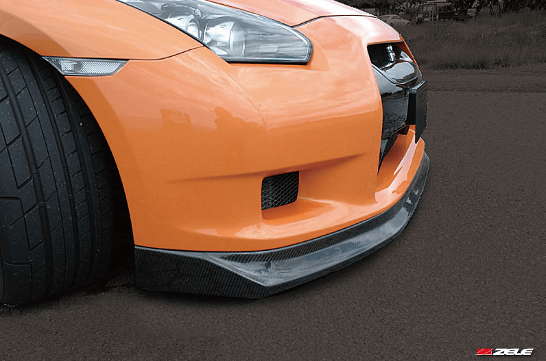 Carbon Front Lip Spoiler - Construction: Carbon - Colour: - - ZELE-GTR35-CFLS