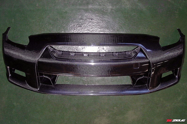 Dry Carbon Front Aero Bumper - Construction: Dry Carbon - Colour: - - ZELE-GTR35-DCFAB