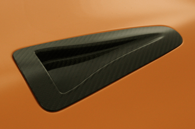 Carbon NACA Bonnet Duct Set - Construction: Carbon - Colour: - - ZELE-GTR35-CNBD