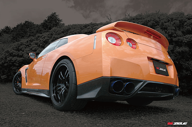 Carbon Rear Under Spoiler - Construction: Carbon - Colour: - - ZELE-GTR35-CRUS