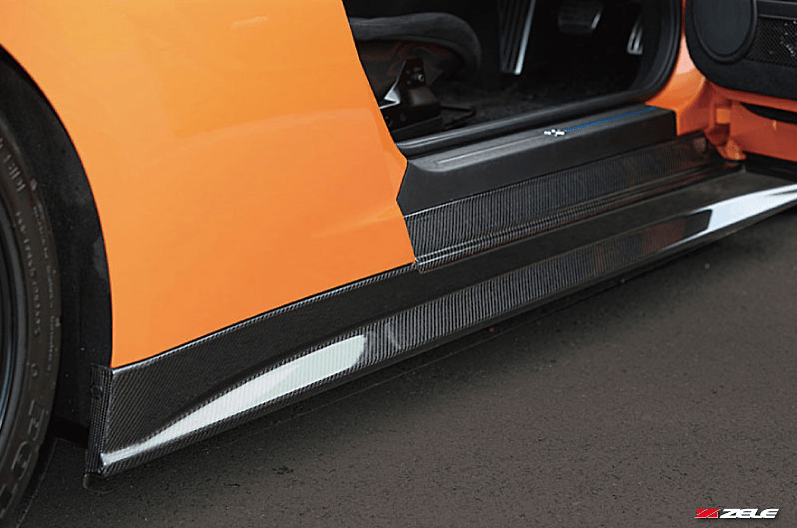 Carbon Side Skirt Set - Construction: Carbon - Colour: - - ZELE-GTR35-CSS