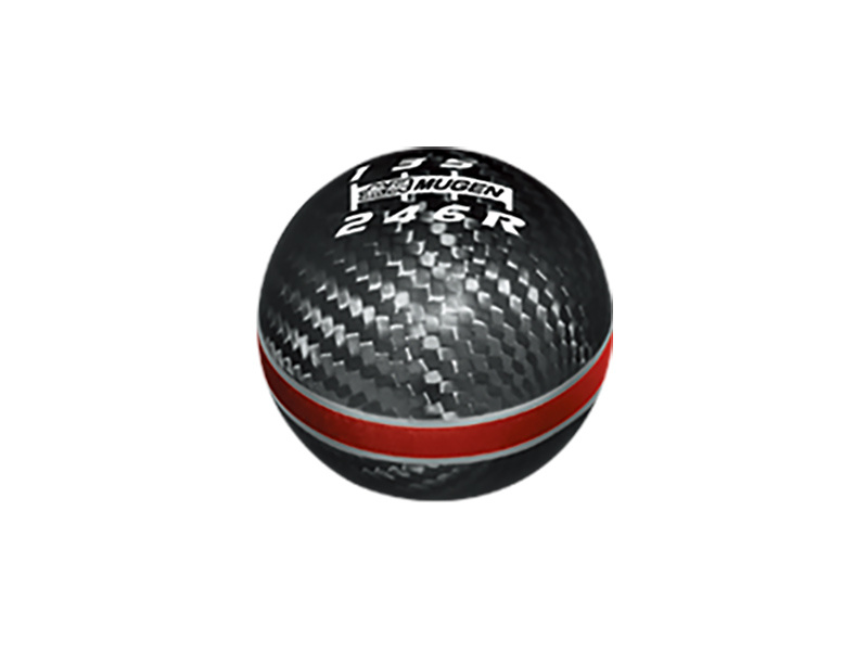 Colour: Carbon/Red - Badge: 6 Speed - Material: Carbon/Aluminum - Thread: M10xP1.5 - 54102-XLT-K2S0-RD