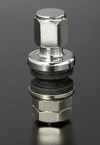 Colour: Chrome - Quantity: 4 - Shape: 11.5mm Diameter Straight - HAYRAC-AV1S