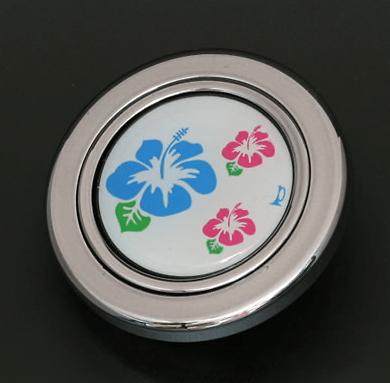 Colour: Silver - Design: Hibiscus - HS50