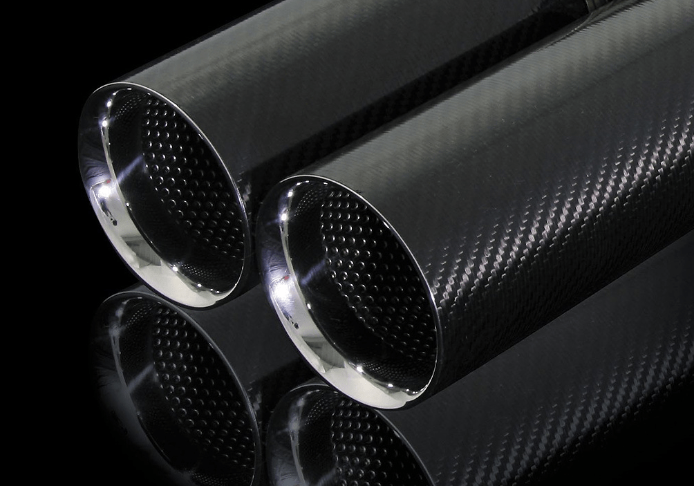 Pieces: 4 - Pipe Size: 60mm - Tail Size: 92mm (x4) - Tail Type: Carbon - AIMTLM-86C