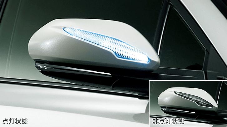 LED Mirror Covers - Construction: ABS/LED - Colour: Black Mica (C0) - Colour: Metal Stream Metallic