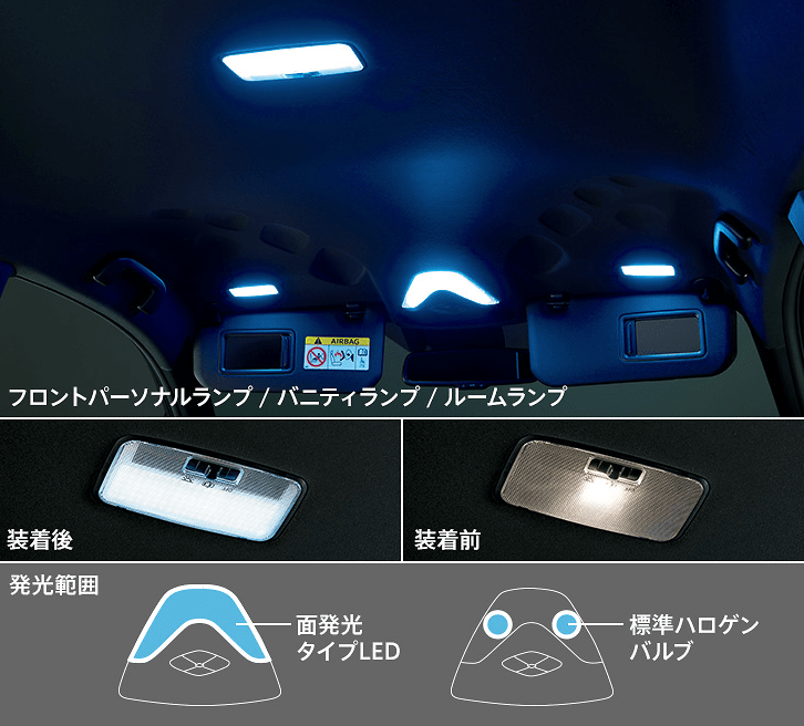 LED Room Lamp Set (Surface Emitting Type) - Construction: LED - Colour: - - D2815-53830