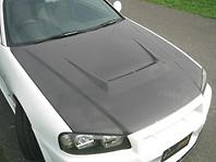 Carbon Bonnet With Duct - EBR34-CBWD