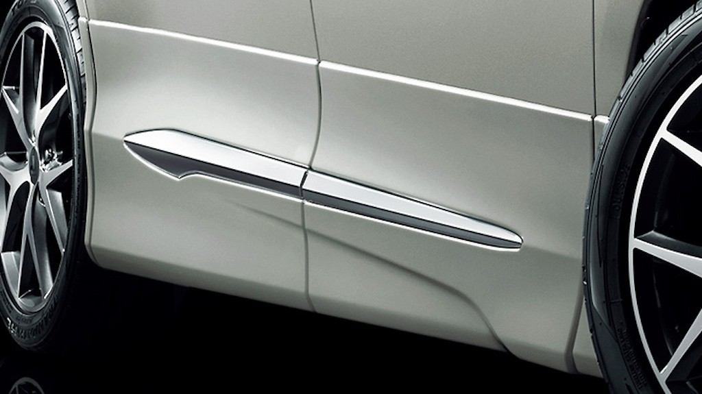 Side Skirts - Construction: ABS - Colour: Black: C0 - Colour: Luxury White Pearl Crystal Shine Glass Flake: A1 - Colour: White Pearl Crystal Shine: A0 - D2611-43210-XX