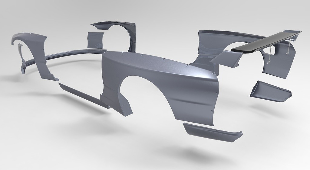 Rear Wing - Construction: FRP - Colour: Unpainted - TRARBR32-RWFRP