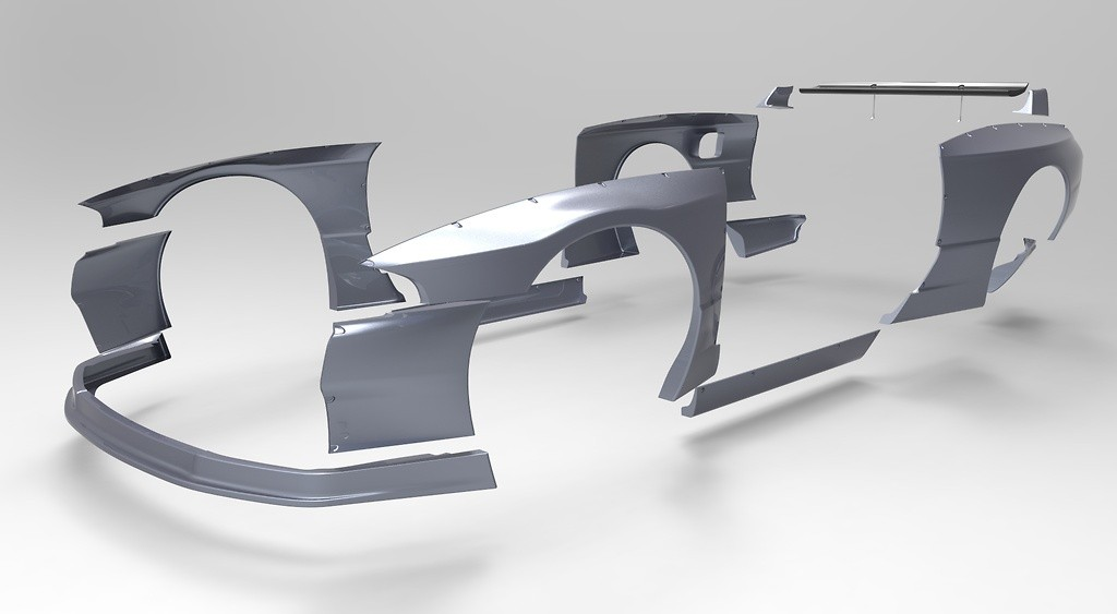 Side Skirts - Construction: FRP - Colour: Unpainted - TRARBR32-SS