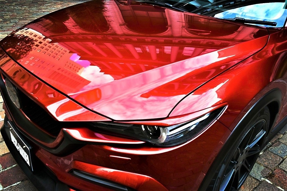 Head Lamp Lower Garnish Painted - Construction: FRP - Colour: Jet Black Mica (41W) - Colour: Snowflake White Pearl (25D) - Colour: Soul Red Crystal Metallic (46V) - cx-5-kf-head-lamp-lower-garnish-01-2