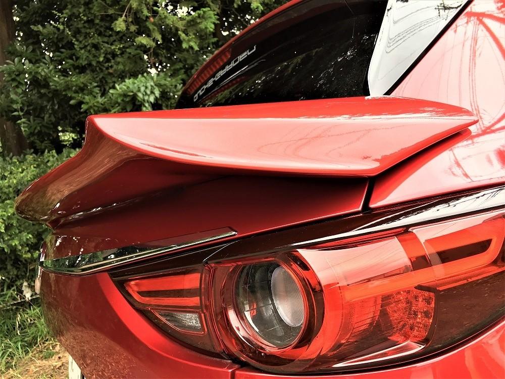 Rear Waist Wing Painted - Construction: FRP - Colour: Jet Black Mica (41W) - Colour: Machine Gray Premium Metallic (46G) - Colour: Snowflake White Pearl (25D) - Colour: Soul Red Crystal Metallic (46V) - cx-5-kf-rear-waist-wing-01-p