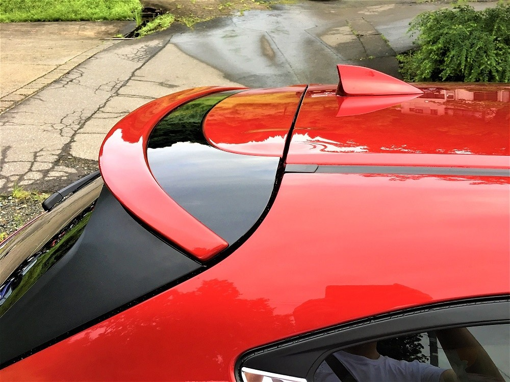 Roof Spoiler Painted - Construction: FRP - Colour: Jet Black Mica (41W) - Colour: Machine Gray Premium Metallic (46G) - Colour: Snowflake White Pearl (25D) - Colour: Soul Red Crystal Metallic (46V) - cx-5-kf-roof-spoiler-01-p