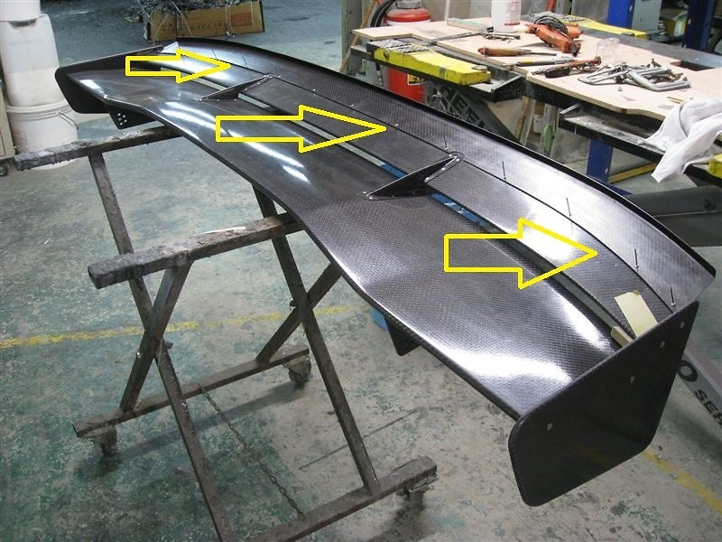 Wing Extension (extends 50mm back and 3~15mm higher, fastened with Rivets) - VOLGTWT5-WE