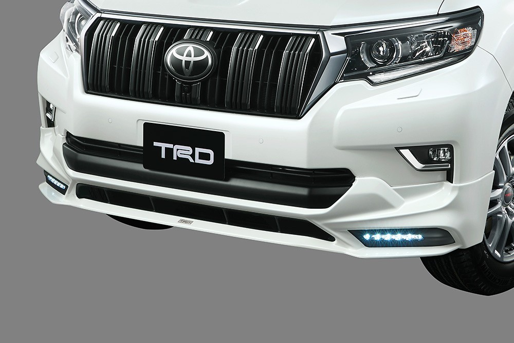 Front Spoiler (with LED) - Construction: Resin (PPE) - Colour: Black (202) C0 - Colour: White Pearl Crystal Shine (070) A0 - MS341-60001-##