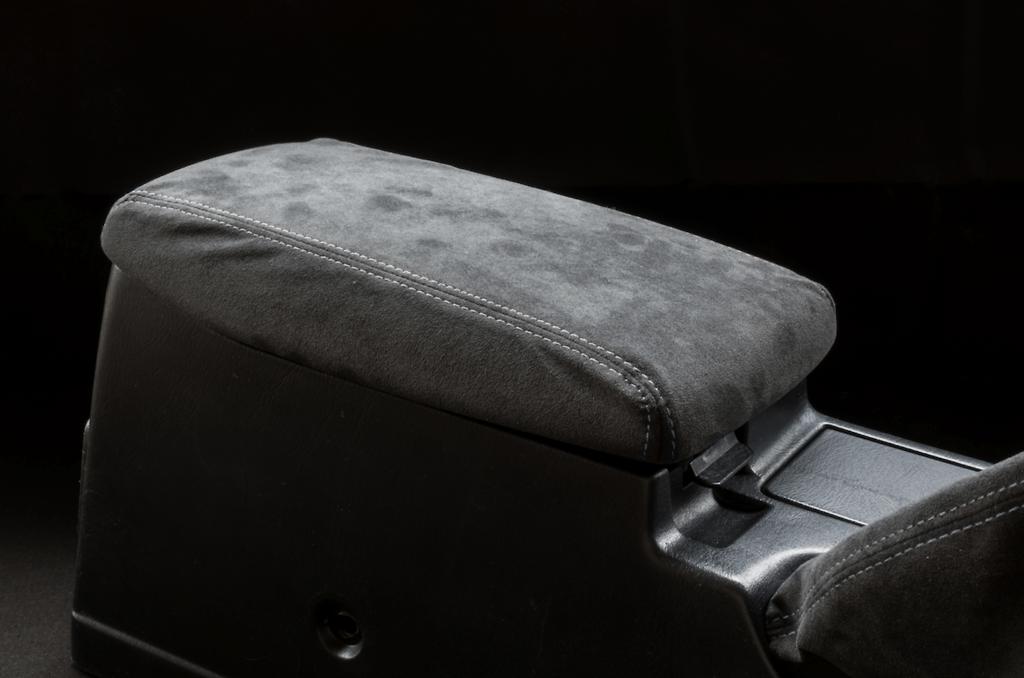 Center Armrest Kit - Material: Alcantara - Stitch: Grey - Stitch: Red - BNR32-CA-AL