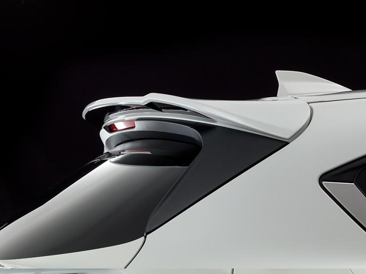 Rear Roof Wing - Two-Tone - Construction: FRP - Colour: Jet Black Mica (41W) - Colour: Machine Gray Premium Metallic (46G) - Colour: Matte Black - Colour: Snowflake White Pearl Mica (25D) - Colour: Sonic Silver Metallic (45P) - Colour: Soul Red Crystal Me