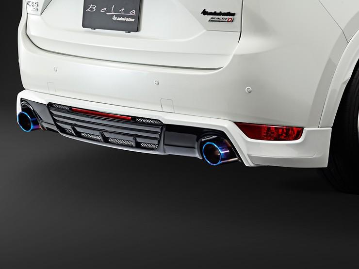 Rear Under Spoiler - Dual Tip Exhaust - Two-Tone - Construction: FRP - Colour: Jet Black Mica (41W) - Colour: Machine Gray Premium Metallic (46G) - Colour: Matte Black - Colour: Snowflake White Pearl Mica (25D) - Colour: Sonic Silver Metallic (45P) - Colo