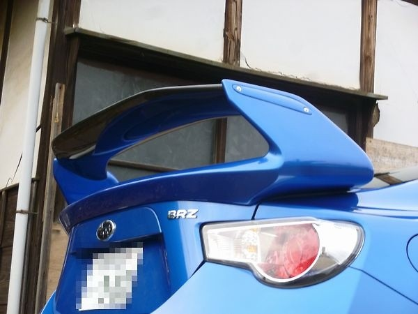 Specify OEM Paint Code + Clear Coat on Carbon - Material: FRP with Carbon Blade - Colour: Painted - SCRW-BRZ86-FRPCARP