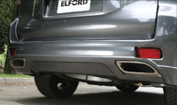 Rear Bumper Carbon Panel - Construction: Carbon - ELF-LC150E-RBCP