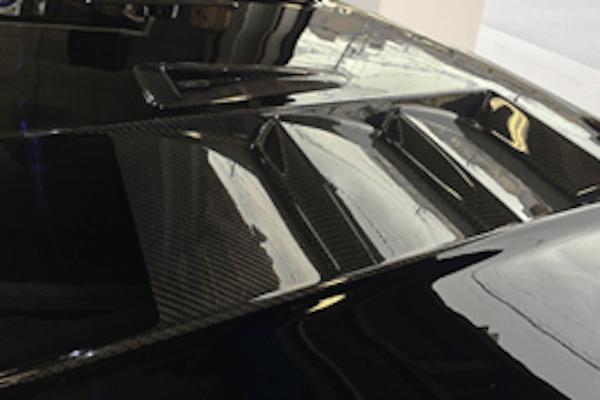 Aero Bonnet Type 2 (with carbon louvers) - Construction: FRP/Carbon - Colour: Unpainted - ELF-LC150E-AB2C