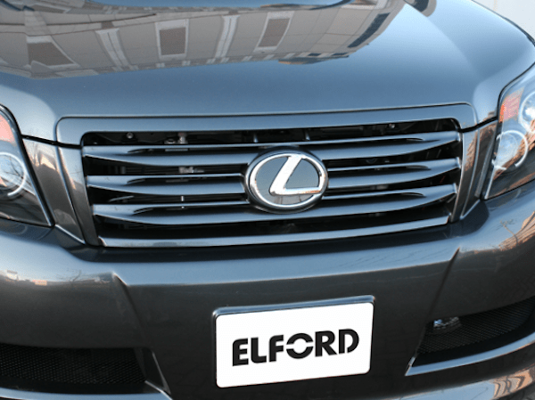 Front Grill for vehicles without Front Mount Camera (2 Piece) - Construction: FRP - Colour: Unpainted - ELF-LC150E-FGW0C