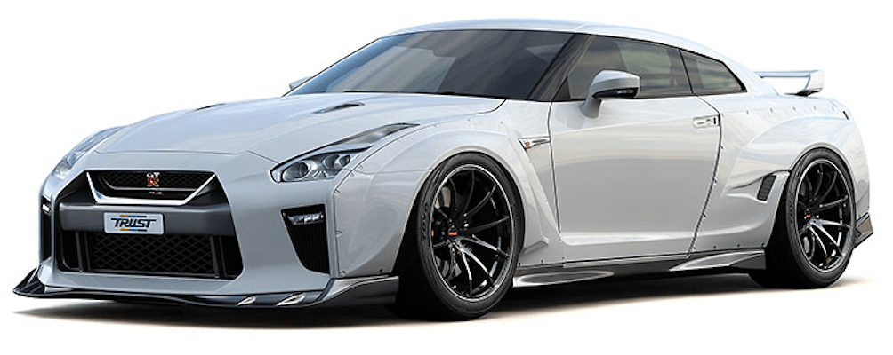 Wide Body 3 Point Set: Front Skirt + Front Wide Fenders + Rear Wide Fenders - Construction: FRP - Colour: Unpainted - 17020254