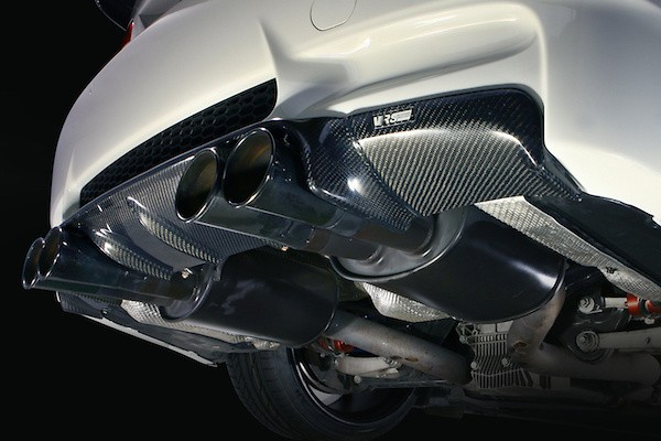 Rear Skirt - Diffuser Look - - Construction: Carbon - Twill Weave - VAB-9205