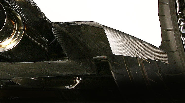 Side Splitter Fins - Left and Right Set - For Varis Rear Diffuser Ver.2 Only - Construction: Carbon - VAMI-099W