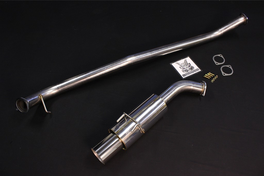 Be Free - All Stainless Muffler + Titanium Tail Tip Set
